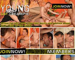 young gay creampie