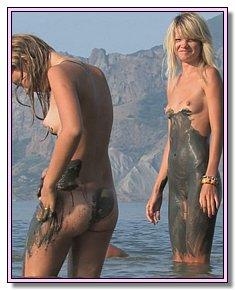 undressed nudist girlfriend has naked fun