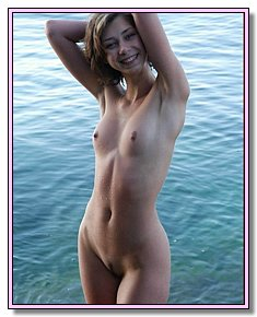 undressed young bitches sunbathes without panties on a wild beach
