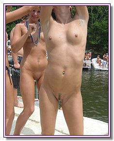 undressed amatuer young nudes attracts men with her body at the beach