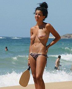 naked on beach