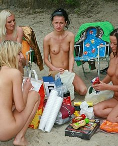 cute real teens stares nudists on the nude beach