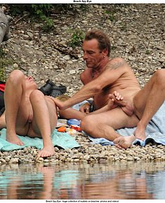 nudist giper sexuality - erections on beach