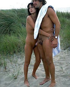 usual male's erections on beach