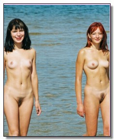 liberated nudist babes teases men
