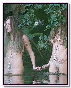 sunburned nudists teenagers sunbathes naked at nudist beaches