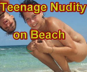 Teenage Nudity  on Beach