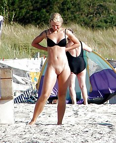 shining in the sun blonds and brunet girls stares nudists by the sea