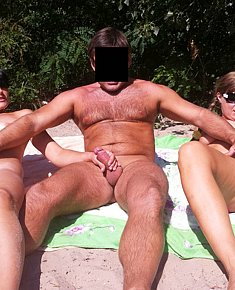 Nudist sex  on beach