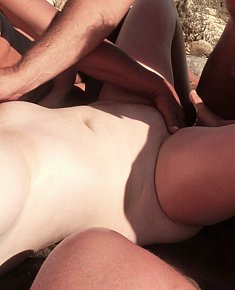 Make love on beach