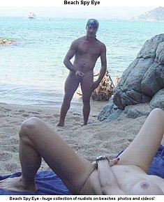 Nudist girls loves friend's erection at beach