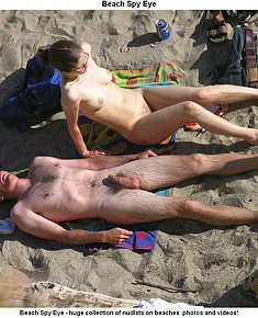 Nudist girls at beach stimulates their boys for erection