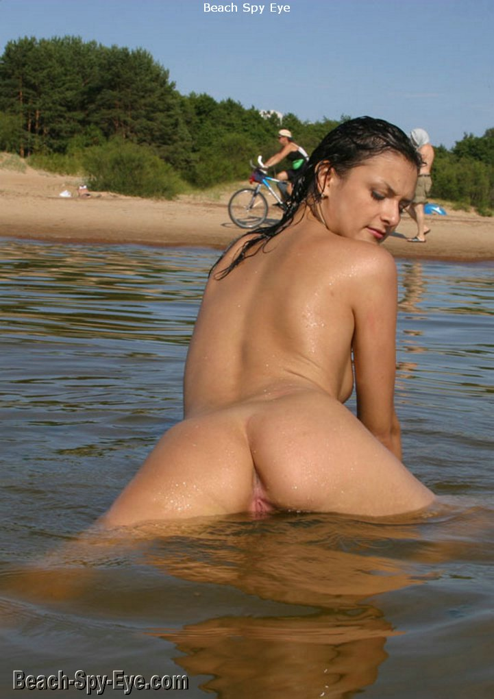 Nudist Teens At Nude Beach Pleasing Young Damsels Enjoys -1097